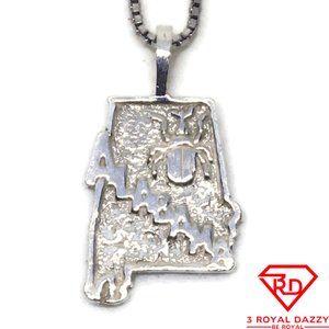 Handcraft alabama small charm pendant 925 Silver